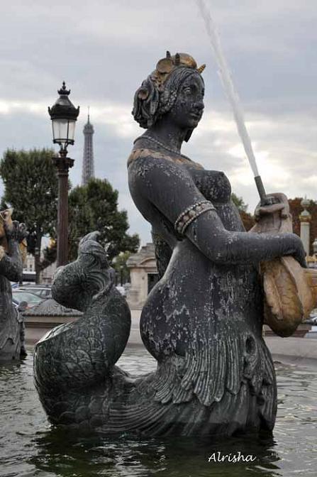 Sirène d'Alrisha, Place de la Concorde, Paris