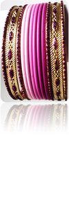Tie&amp;Dye Bracelets Bangles Indiens Fuschia