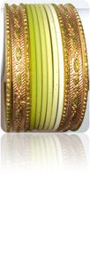 Tie&amp;Dye Bracelets Bangles Indiens Vert Anis