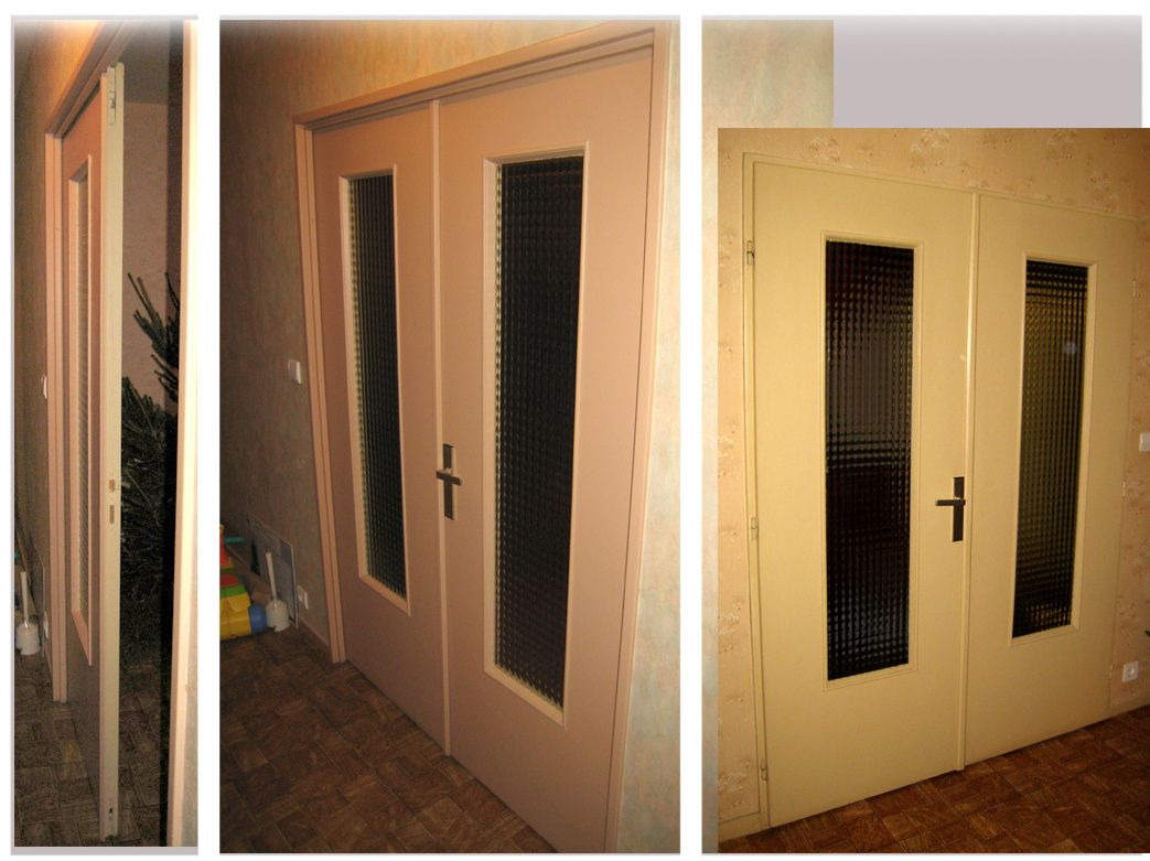 Porte double battante portail for Porte de salon double battant