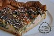 Tarte saumon oignon chenopode graines sesame celeri