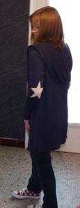 long gilet bleu marine pull etoiles