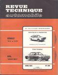 RTA 344 – Opel Rekord 2100D - Evolution Renault R15 – Avril 1975