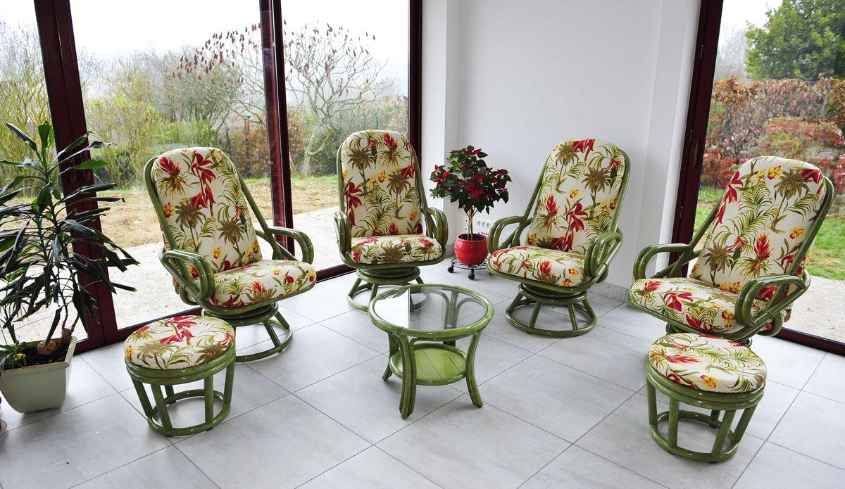 Photos salons en rotin pour verandas et deco interieur par rotin decor evreux - Salon rotin interieur ...