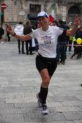 Elena Cifali all'arrivo della Maratona di Ragusa 2013