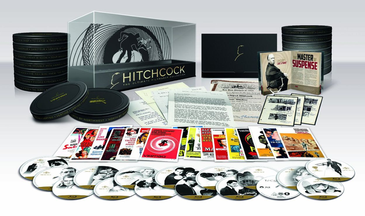 alfred hitchcock la cin aste collection ultimate en coffret blu ray collector plus beau. Black Bedroom Furniture Sets. Home Design Ideas