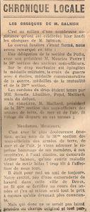 action républicaine -4 01 1939 déces A SALMON