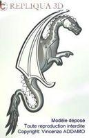 modelisation dessin dragon, modèle sous copyright ADDAMO Vincenzo - Repliqua 3D: modélisation et prototypage bijouterie