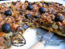 Pizza aubergines poivrons oignons olives