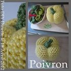 poivron DINETTE CROCHET TUTO DIY PLAY FOOD