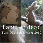 LAPIN DECO NOEL TUTO DIY CHRISTMAS