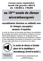 affiche cercle silence