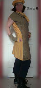 Robe PDC rayée jaune et bleue (5) bis