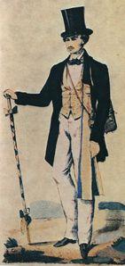 Compagnon sellier du Devoir en tenue de rouleur portant la
