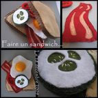 VERSION 3FAIRE sandwich en feutrine