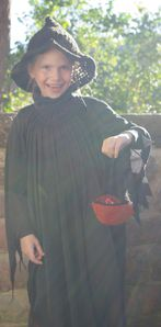 Wendy chapeau + panier halloween