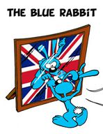 the blue rabbit icone