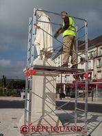 Repliqua 3D - numérisation3D haute définitionen extérieur de la statue de Jean de La Fontaine