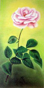 rose au pastel