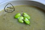 soupe cosse feves vert ail logo