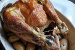 poulet roti celeri ail pomme de terre