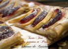 tarte fine aux pommes et prunes