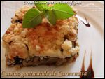 Crumble courgettes-chèvre-figues-border