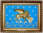 cadre en relief lion de Venise - Arts et sculpture: sculpteur contemporain