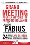 Grand Meeting de soutien à François Hollande le 24 Avril à Val-de-Reuil