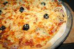 Pizza jambon champignons mozzarelle