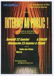 """Théâtre à Marcq, les Complices présentent """"Interdit au Public"""""""