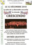 La Queue lez Yvelines, concert crescendo le 12 décembre 2010