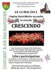 Jouars-Pontchartrain, concert avec la chorale Crescendo le 14 mai 2011