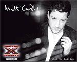Vainqueur X-Factor UK 2010: Matt Cardle avec When we collide