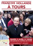 François Hollande mardi 3 avril à Tours