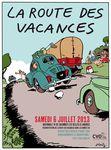 6 juillet 2013 La route des vacances, Nationale 74 entre Colombey les Belles et Langres.