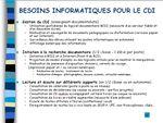 Projet d'informatisation pour le CDI