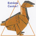 Canard Orange triangle Extrême Centre