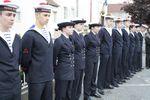 La préparation militaire de Marine Cusset-Vichy au pied du monument aux morts
