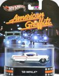 58 IMPALA AMERICAN GRAFFITI RETRO ENTERTAINMENT HOT WHEELS 1/64
