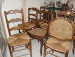Les premières chaises paillées de l'Année 2013