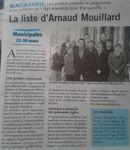 Municipales 2014 : La liste d'Arnaud MOUILLARD (Paris Normandie)