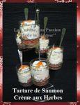 Verrines de Fête Made In Maryse: Tartare de Saumon Fumé, Crème aux Herbes ...