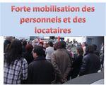 Suite à l'agression: forte mobilisation des personnels et des locataires