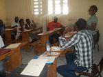 Première séance de l'Atelier d'écriture sur la Poésie/ASSOCC/Haïti.