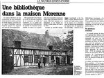 Projet d'une bibliothèque en 1995 à La Neuville Chant d'Oisel