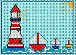 GRILLE POINT DE CROIX - Petits navires -+ photos divers