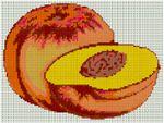 GRILLE POINT DE CROIX - PECHE - Fruit de saison