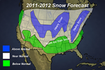 USA : Snow Forecast for the Winter of 2011-2012