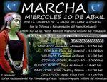 Chile. 10 de Abril: Wallmapu se moviliza por la defenza y recuperación del territorio y la libertad de los Presos Presos Políticos Mapuche